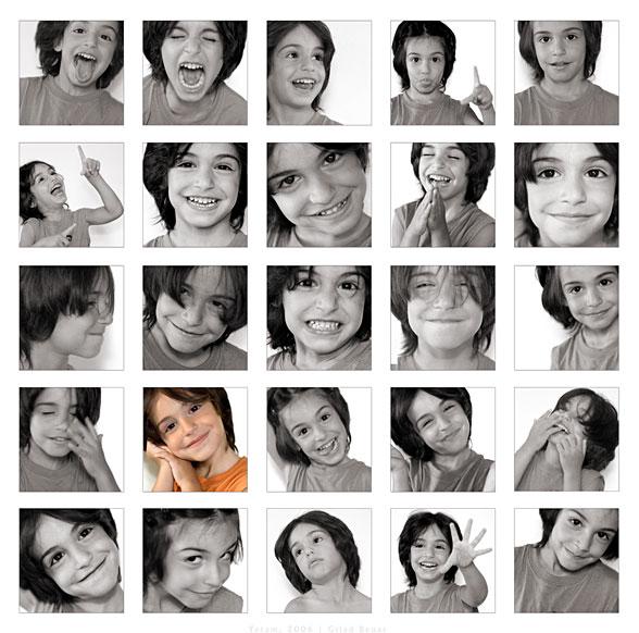Muitas fotos de uma mesma menina (Título: Yotam, 2006 / Autor: Gilad Benari)